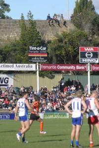 The official crowd at Fremantle Oval for the derby was 5066. And there were a few in the cheap seats.