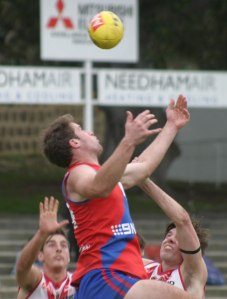 Nick Rodda proved a handful for South Fremantle's defenders. Photo by Les Everett