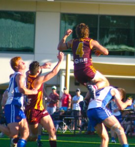 Subi's Rhys Waters gets up high. He didn't take the mark but did plenty of good things.
