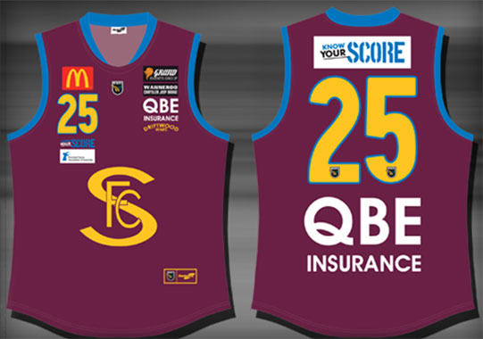 The heritage jumper worn by Subi over the past two weeks. They're being auctioned to raiser funds for prostate cancer research.