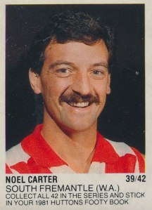 Noel Carter Huttons sticker.