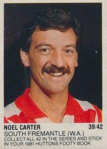 Noel Carter Huttons sticker.