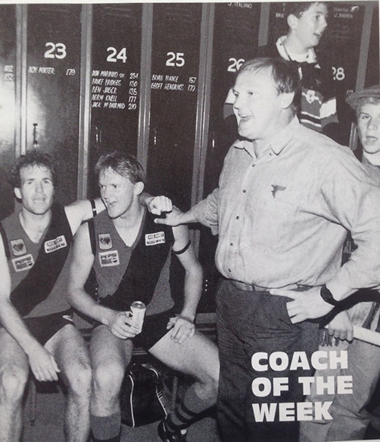 Coach of the week: Jeff Gieschen in the WAFL Football Budget during his time with West Perth.