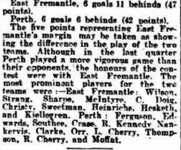 1907 WAFA season